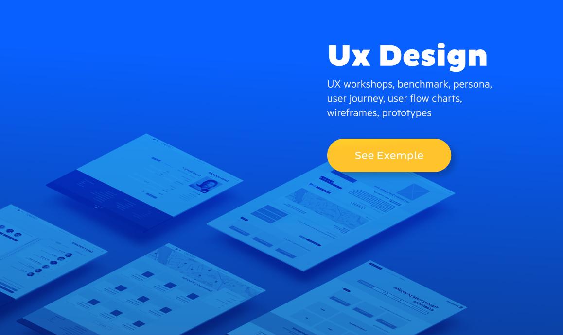 Ux Designer Millimade wireframes
