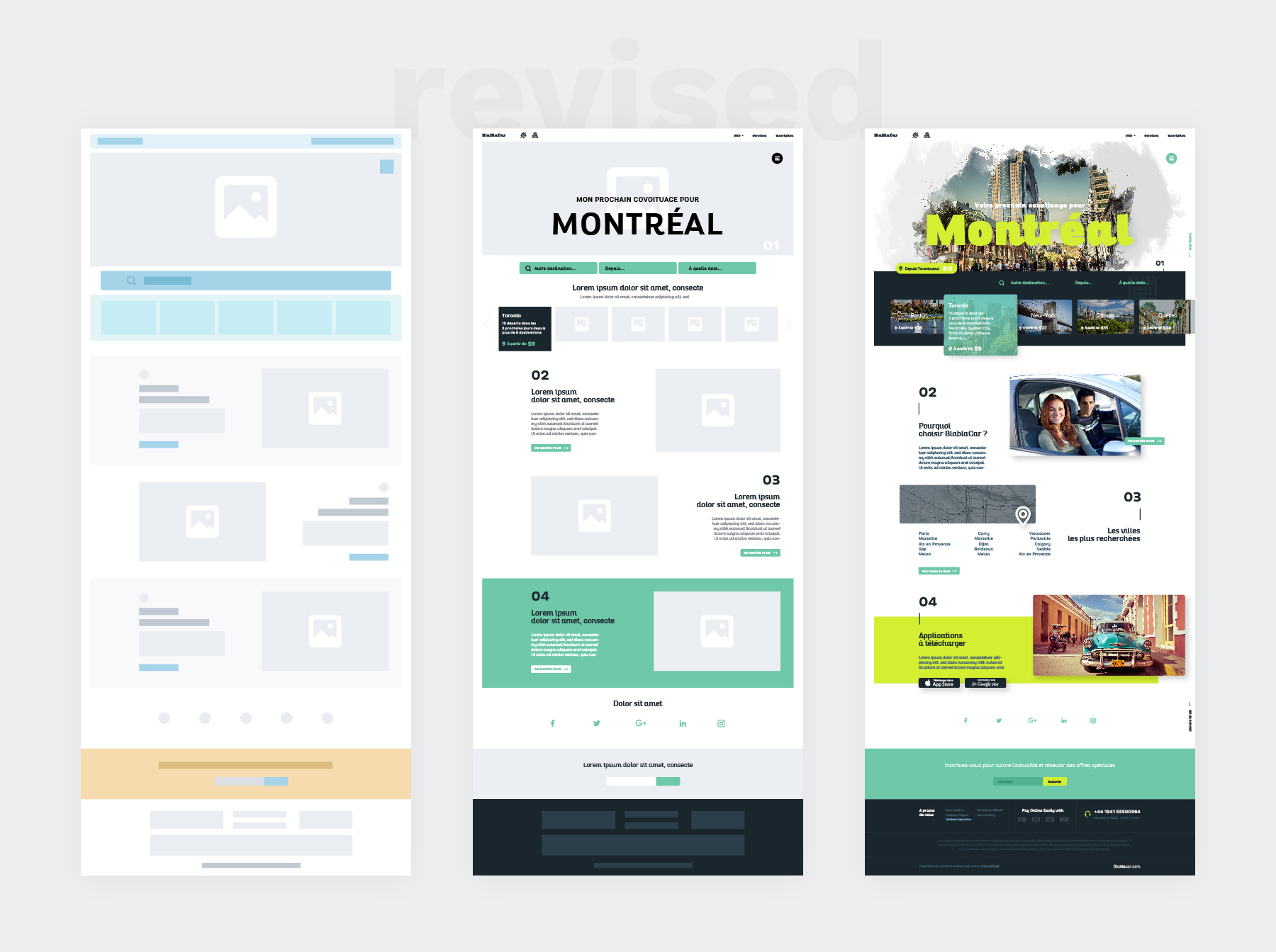 Ux Design Wireframes User flow Blablacar - millimade