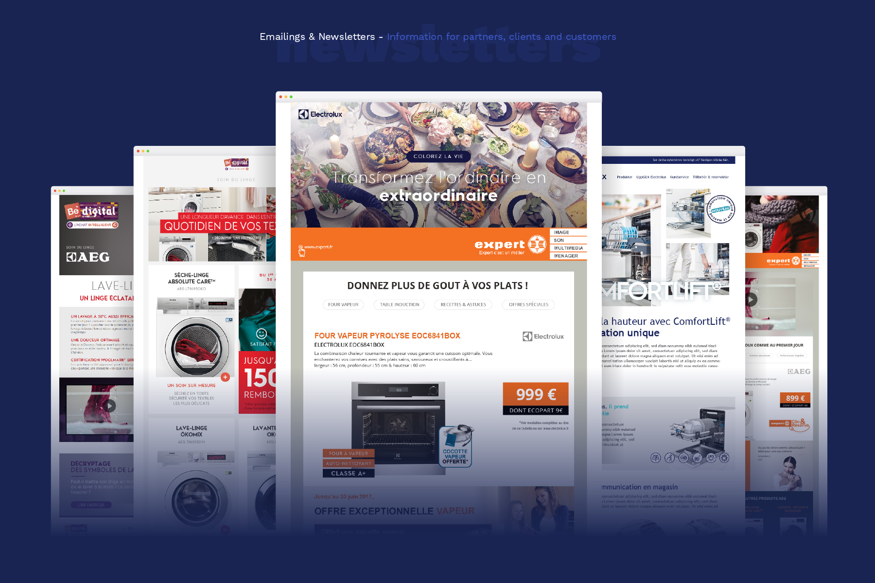 Design newsletters Electrolux France - millimade